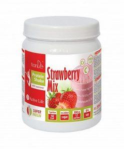 Erdbeer-Proteinshake
