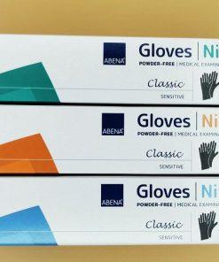 Einmalhandschuhe Abena Classic Sensitiv, Nitril, Farbe Schwarz