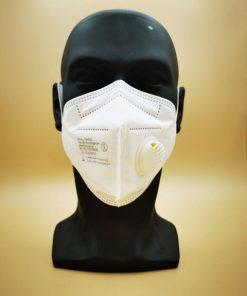 FFP3/KN95 faltbare Atemschutzmaske mit Ventil und Kopfbänder